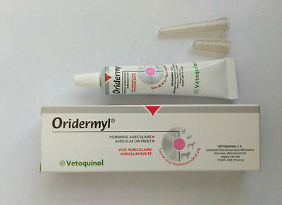 Vetoquinol Oridermyl for Dogs ear infections anti-inflammatory 4 Tubes