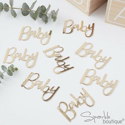BABY SHOWER TABLE CONFETTI - Metallic Gold Sprinkles/Decoration - RANGE IN SHOP