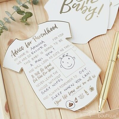 ADVICE CARDS FOR THE PARENTS-TO-BE -Baby Shower Activity/Game- 'OH BABY!' RANGE