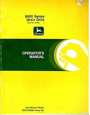 John Deere 8000 Series Grain Drills Operators Manual OM-N159581 Issue G2 8928E