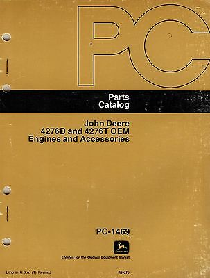 John Deere 4276D 4276T OEM Engines & Accs Parts Catalogue PC 1469 1976  7321E