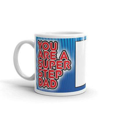 Super Step Dad photo mug personalised Coffee Cup Fathers Day Birthday Gift