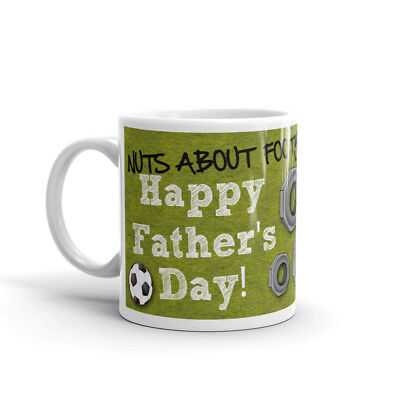 Nuts Footy photo mug personalised Coffee Cup Fathers Day Birthday Gift
