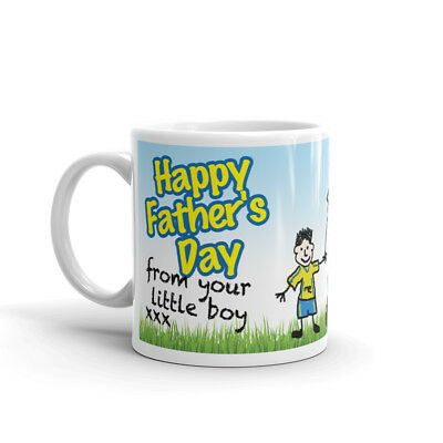 YOUR LITTLE BOY PHOTO MUG PERSONALISED Coffee Cup Fathers Day Birthday Gift