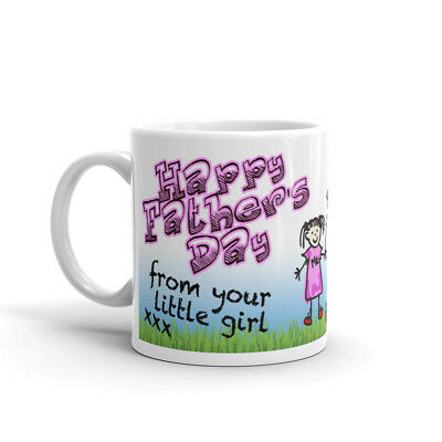 YOUR LITTLE GIRL PHOTO MUG PERSONALISED Coffee Cup Fathers Day Birthday Gift