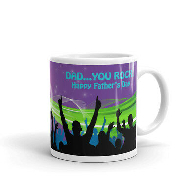 YOU ROCK PHOTO MUG PERSONALISED Coffee Cup Fathers Day Birthday Gift
