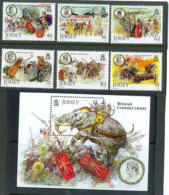 Jersey Romans-new issue Aug 2014 set and Min sheet mnh