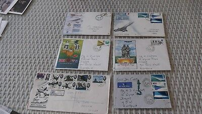 Bulk lot UK First Day covers x 6 - Flight - Concorde. Battle of Britain, Royal