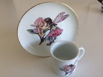 Reutter Germany..THE FLOWER FAIRIES COLLECTION..Frederick Warne..Plate & Mug