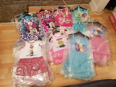 Job lot Wholesale Girls Dresses x 35 Summer Dress Party Character Licensed BNWT