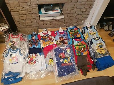 Job lot Wholesale Short & T-Shirt Set x88 Character Licensed BNWT Boys Outfits