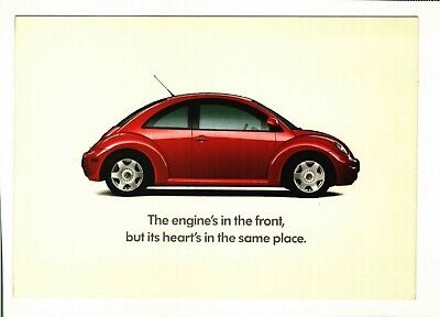 Vw Beetle - 1998 Advertising - The Engine's In The Front - Postcard  - Unused