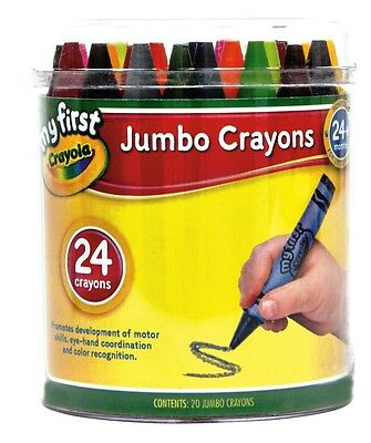 Crayola My First Jumbo Crayons - 24 Crayons in a Container
