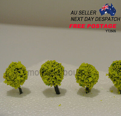 YT2505 Architectural  3D Modelling  Fruit YELLOW Flower Tree 25mm 5pcs