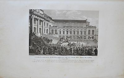 Two Engravings 18TH - Charles-Philippe d'Artois à Paris - 1787 - Niquet