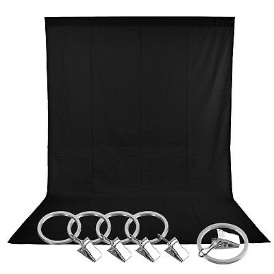 Photo Studio 5x10ft/1.5x3m Pure Muslin Collapsible Backdrop Background Clamps