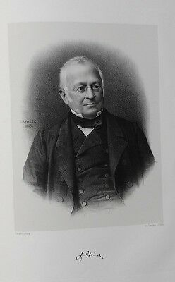 Lithografie Original- Georges Lafosse - Adolphe Thiers - 1865