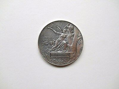 Rare and Belle Medal - Bronze Silver - Exhibition Universal 1889 - Booted