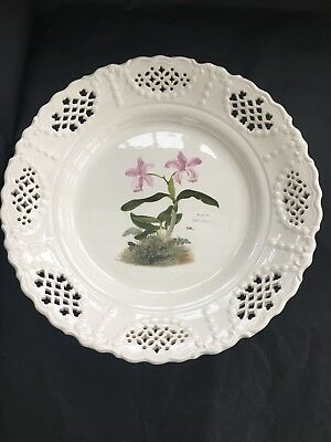 Leeds Creamware Plate Orchid Design for V&A museum