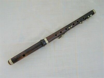 Vintage Flute or Piccolo for spares or repair.  old antique wooden