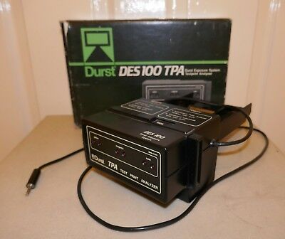 DURST DES 100 TPA TEST PRINT ANALYSER , BOXED with INSTRUCTIONS