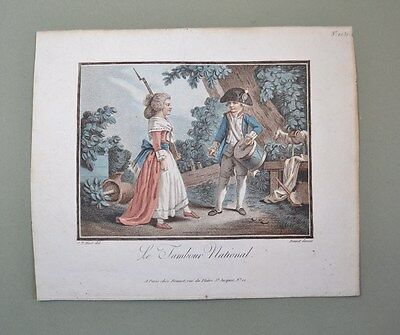 Rare Pair of'Aquatints 18th of Jean-Baptiste Huet and Louis Marino Cap