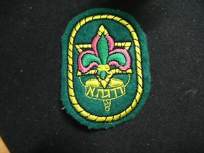ISRAEL VINTAGE   Gadna boy Scouts patch pin 1980's rare jewish scouts level A