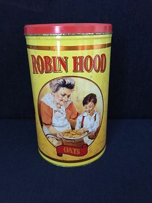 Retro Robin Hood Oats Tin Canister With 2 Recipes