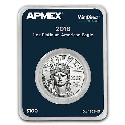 2018 1 oz Platinum American Eagle (MintDirect® Premier Single) - SKU#152643