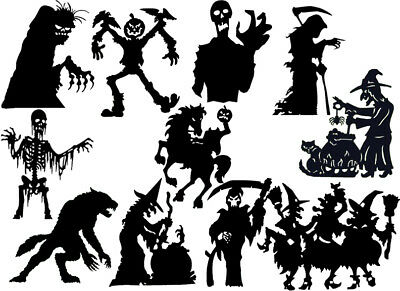 Die Cut Outs Silhouette Martial arts set 18 Toppers Shape Scrapbooking,Crafts