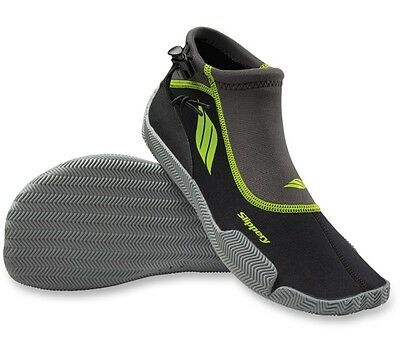 Slippery Black Lime AMP Adult Large LG PWC Watercraft Water Shoes 3261-0142