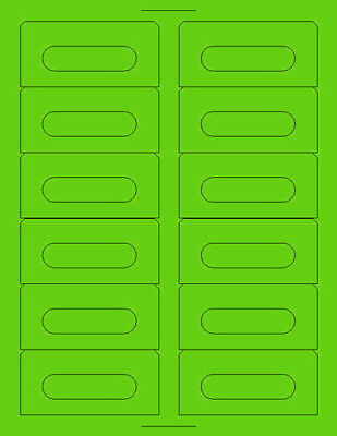 Audio Cassette Labels (1,200) LIME GREEN Compare Layout to 5198 Compulabel 31190