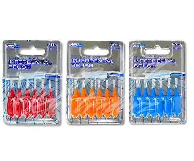 Dental Care Total Clean Interdental Brush Oral Hygien 6pcs Each Pack FREE P&P UK