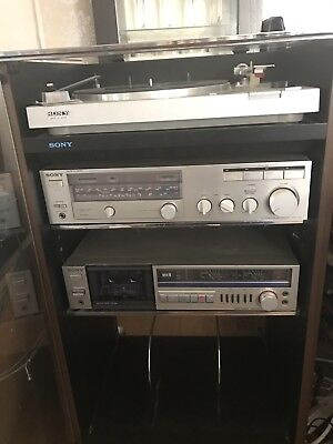 Retro Very Cool Stacking Music System SONY With Speakers