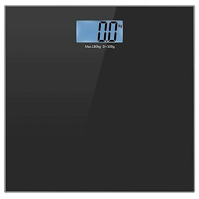 Body Weight Scale Tempered Glass Digital Bathroom Scale with Step-On 400LB/180KG