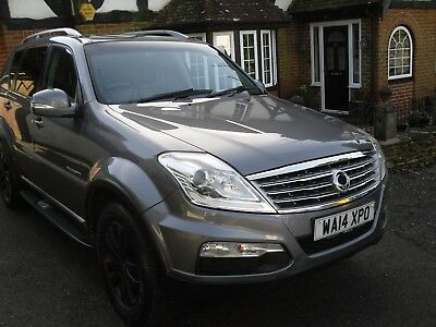 2014 SSANGYONG REXTON EXECUTIVE Diesel 4x4 MPV, One Owner, Grey, Leather, Alloys