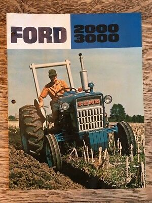 Vintage Ford Farm Tractor 2000 3000 Brochure Dealer Advertising