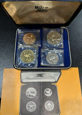 1966 Tanzania 4 Coin Proof set in case Senti Shilling 5500 minted!