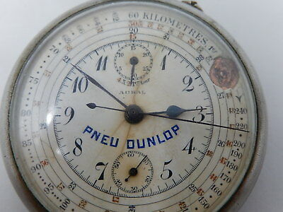 Grosse montre gousset chronographe Aural old pocket watch