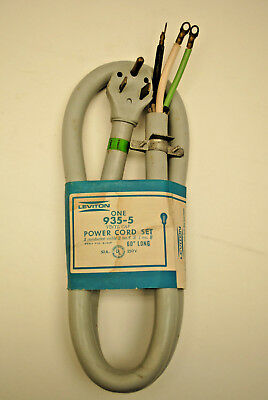 Leviton 935-5  5-FT 50-Amp, 250-Volt Power Cord With Male Plug Used For Welders