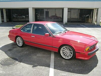 1989 BMW 6-Series  BMW 635csi 1989 Auto VGood condition 135K  red/black performs very well NO RESER