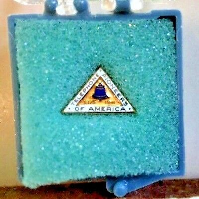 Vintage Telephone Pioneers of America Triangle-Shape Pin 10KGF