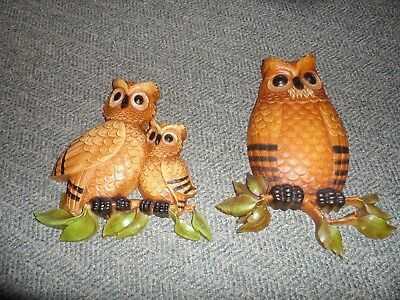 Homco Owls lot of 2 animals decorative collectible