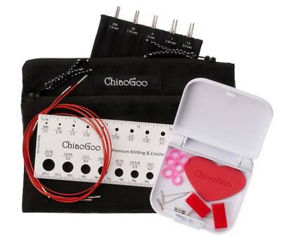 Chiaogoo Twist Red Lace Nadelset Aiguille Pointes Mini 1,5-2,5 mm 13 cm cg7500m
