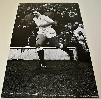 Bill Beaumont Signed 12x8 Photo Autograph England Rugby Union Signing PROOF COA