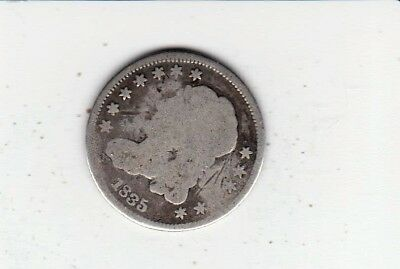 Very Scarce Obsolete Coin 1835 Silver Half Dime-   Free Shipping