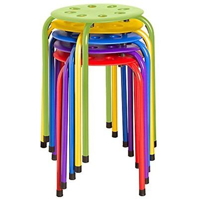 """NOR-1101AC-SO Plastic Stack Stools, 17.75"""" Height, 11.75"""" Width, Length, Colors"""