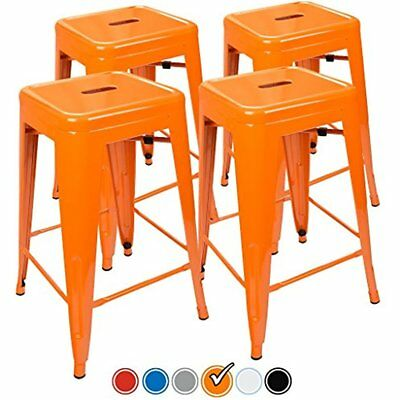 24 Counter Height Bar Stools (ORANGE) By UrbanMod, Set Of Stackable, Kitchen