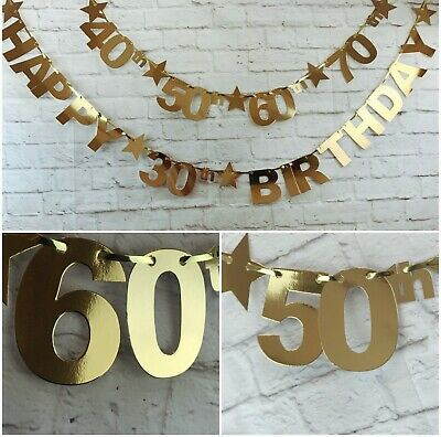 Happy 16th 18th 21st 30th 40th 50th 60th 70th 80th Birthday Banner Bunting Party
