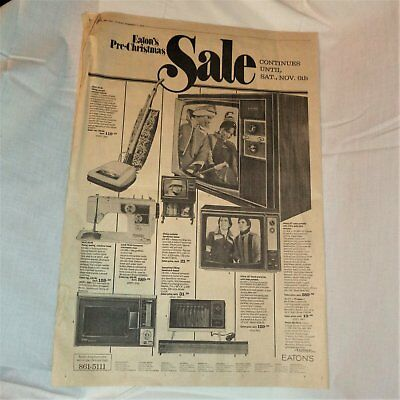 Rare EATON'S Canada Full Page ADVERT Globe & Mail Paper 1976 Hot Items of Period